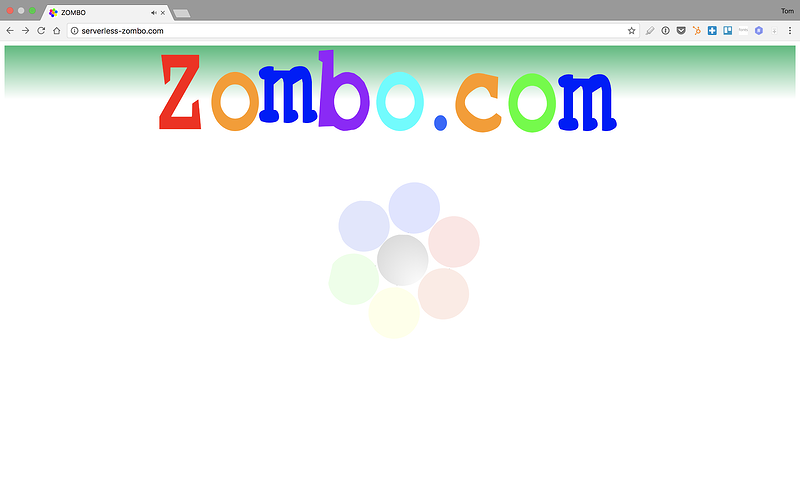 Serverless Zombo Home Page.png