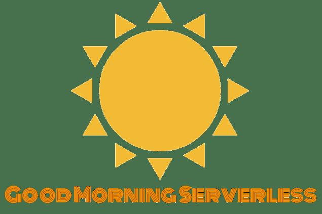 Good Morning Serverless Header Card - white
